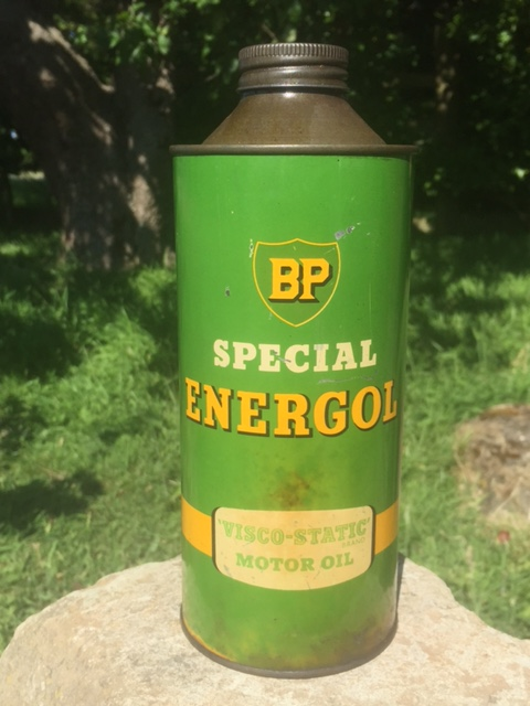 Bp energol quart oil can sold vintage automobilia for Bp select motor oil