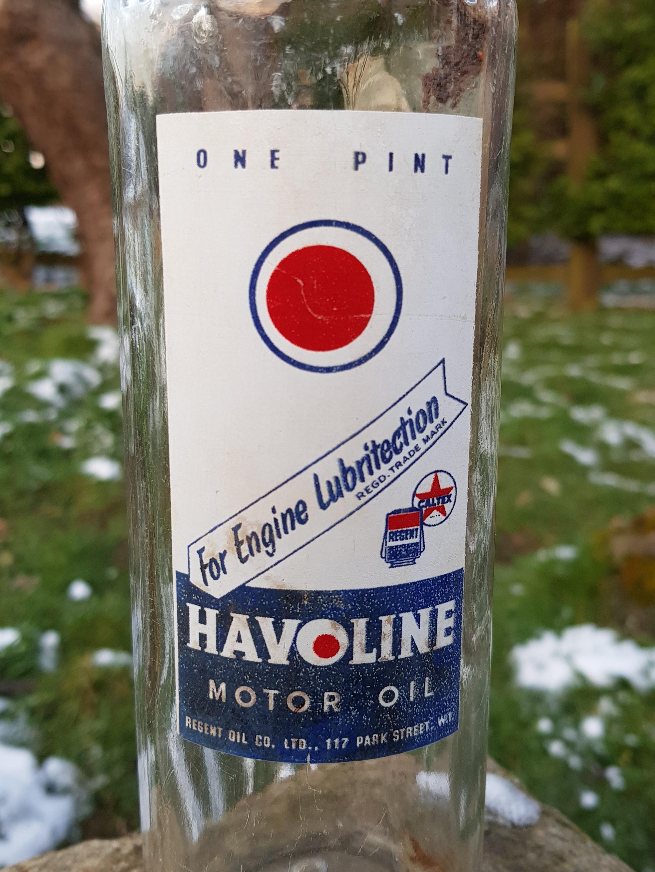 Havoline Pint Bottle - Sold - Vintage Automobilia